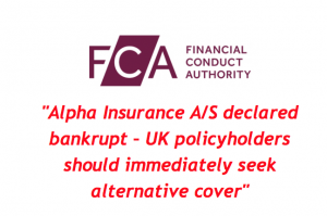 Alpha Insurance declared Bankrupt